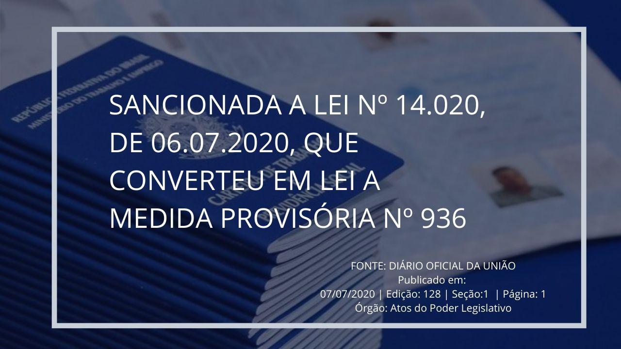 FONTE_ DIÁRIO OFICIAL DA UNIÃO Publicado em_ 07_07_2020 _ Edição_ 128 _ Seção_1 _ Página_ 1Órgão_ Atos do Poder Legislativo